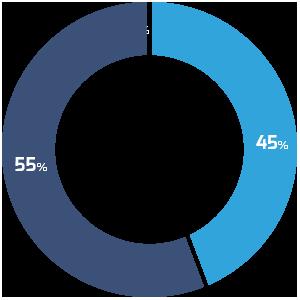 Gráfico do uso de dispositivo pelo tráfego